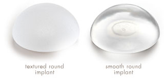 Textured round breast implant vs. Smooth Round breast implant